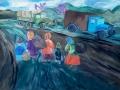 Антропова-Олеся_13лет_БЕЖЕНЦЫ_Б.гуашь_Преп.Широкова-Л.В.