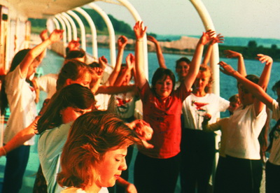 1986 г. Агитрейс на теплоходе  «Мотовилихинский рабочий»