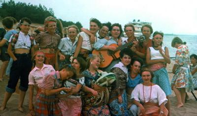 1989 г. Агитрейс на теплоходе, посвященный 120-летию Н.К.Крупской