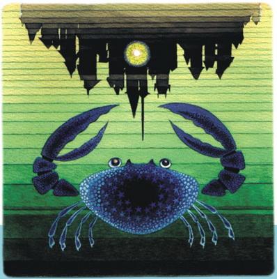 Песня о синем крабе была самой любимой у гайдаровцев и ребят из «Каравеллы».     Рисунок Е.СТЕРЛИГОВОЙ.